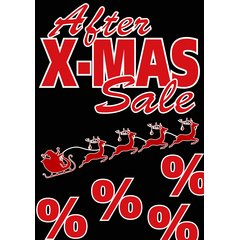 Poster Plakat After Christmas Sale DIN A2 - 42 x 59,4 cm
