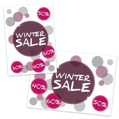 Poster Plakat Winter Sale 2017