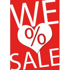 Poster Plakat - We love Sale DIN A2 - 42 x 59,4 cm