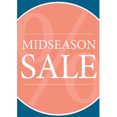 Poster Plakat - Midseason Sale Serie Lisa Orange DIN A2 -...