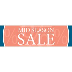 Banner - Midseason Sale - 137x40 cm - Orange...