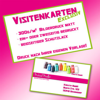 Visitenkarten 300g Bilderdruck Matt Ein Oder Zweiseitig Nach Ihrer Vorlage